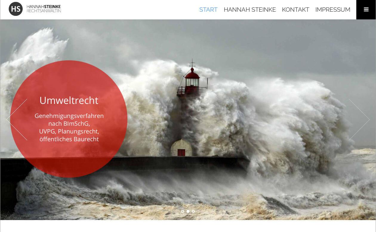 Website F 252 R Rechtsanw 228 Ltin Hannah Steinke Berliner Webdesign